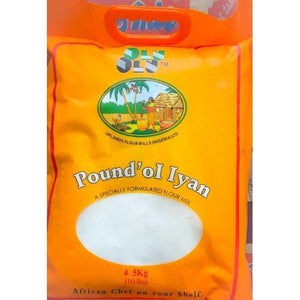 Olu Pounded Yam Mehl 4.5 kg - Ameen