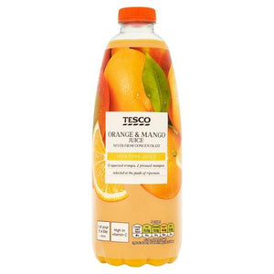 Tesco 100% Squeezed And Pressed Orange And Mango Juice 1 Litre - Tesco