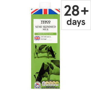 Tesco British Semi Skimmed Longlife Uht Milk 1 Litre - Tesco