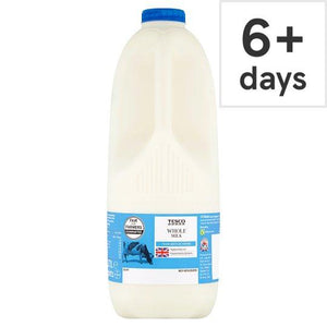 Tesco British Whole Milk 2.272L, 4 Pints - Tesco