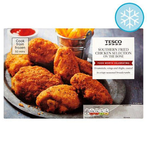 Tesco Southern Fried Chicken Selection On The Bone 810G - Tesco