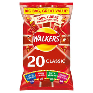 Walkers Classic Variety Crisps 20 X 25G - Iceland