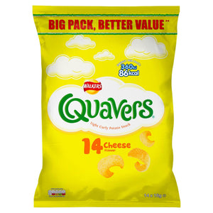 Walkers Quavers Cheese Snacks 14 X 16G (Iceland) - Iceland