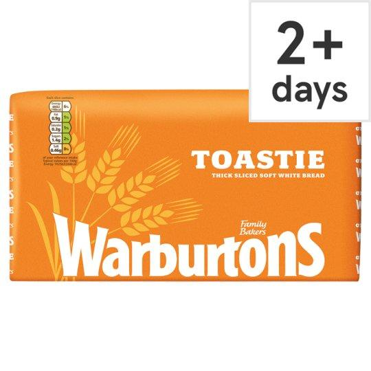 Warburtons Toastie Sliced White Bread 800G (Tesco) - Tesco