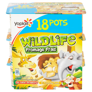 Wildlife Strawberry And Peach Fromage Frais 18 X 45g (Iceland) - Iceland