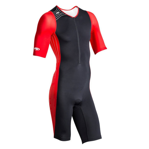 TX2000 Short Sleeve Tri Suit (Men's) Black/Red