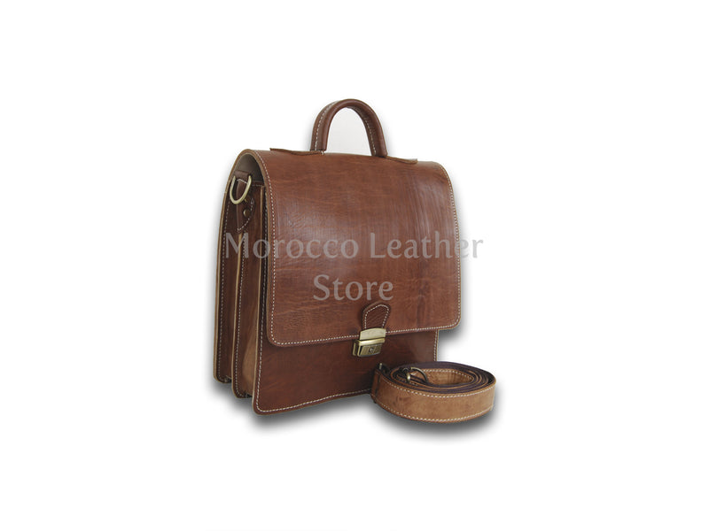 Casual Authentic Unisex Cow Leather bag - Morocco Leather Store