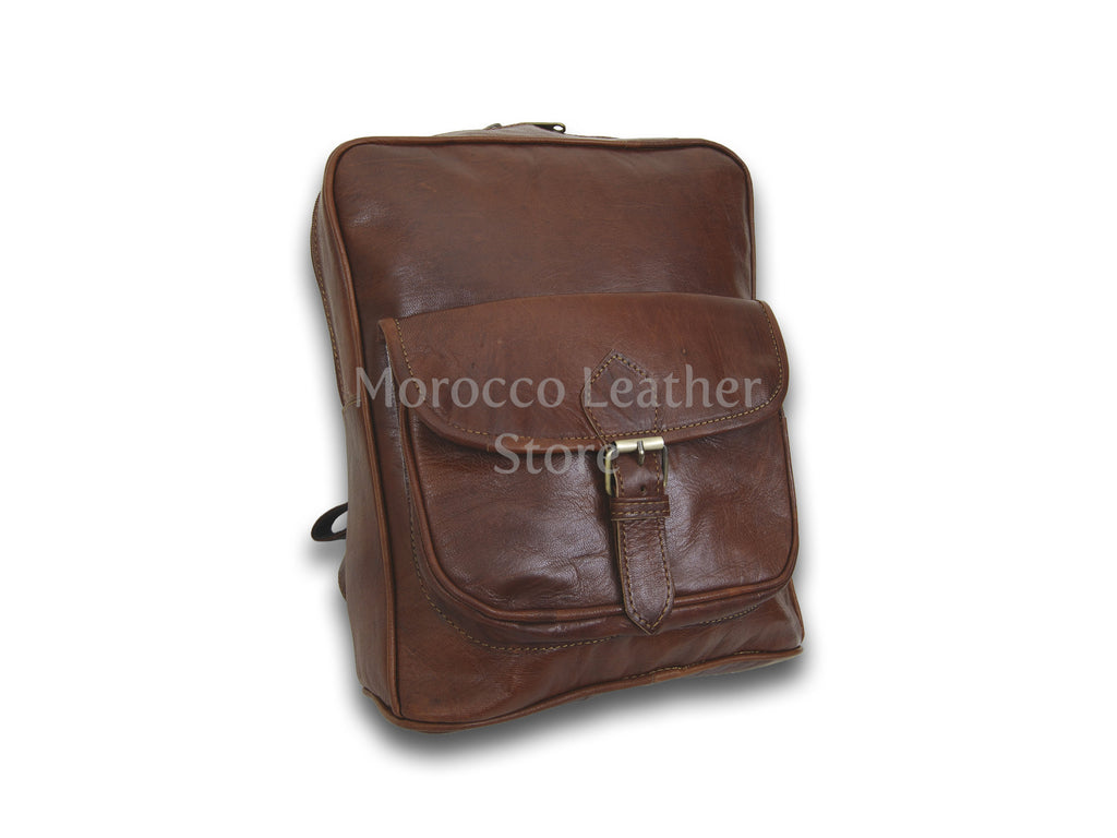 Genuine Leather-Goat Backpack - Morocco Leather Store