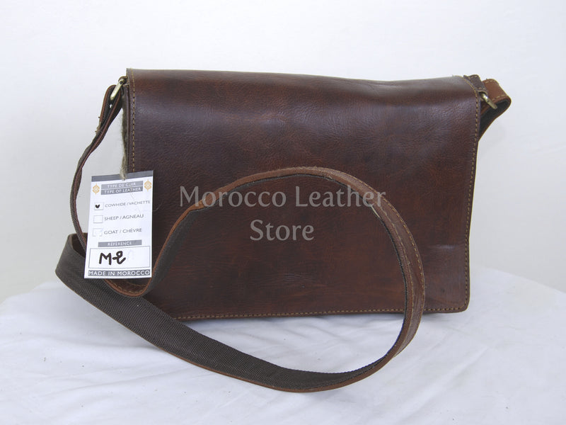 Genuine Leather Messenger Bag - Morocco Leather Store