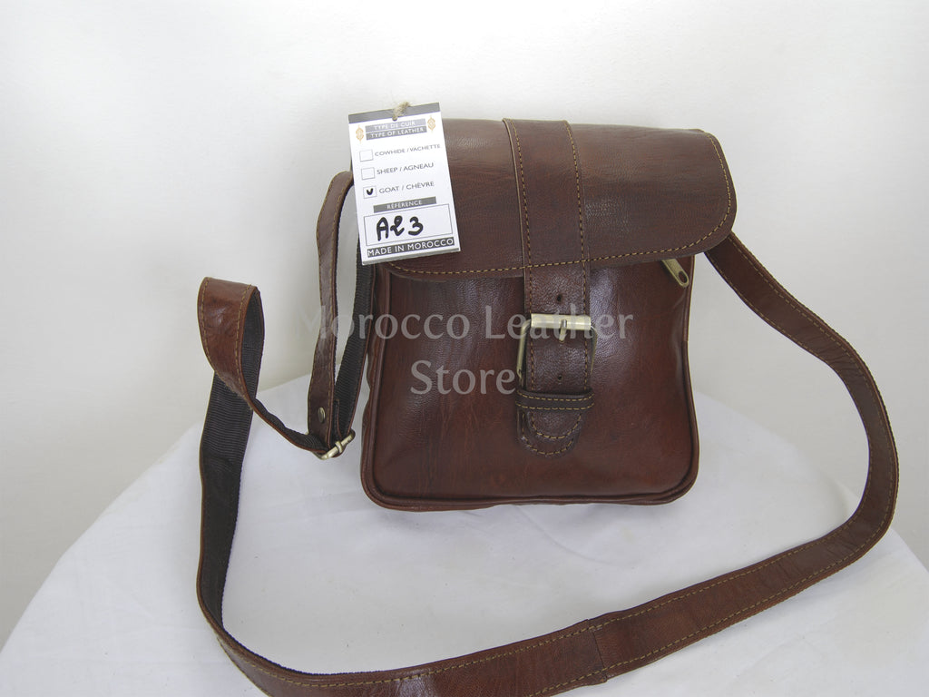 Genuine unisex Leather messenger Bag - Morocco Leather Store