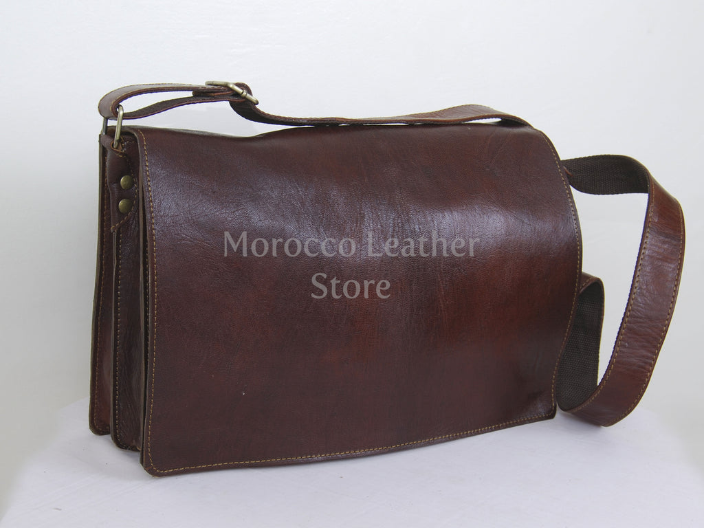 Goat Leather satchel - Morocco Leather Store