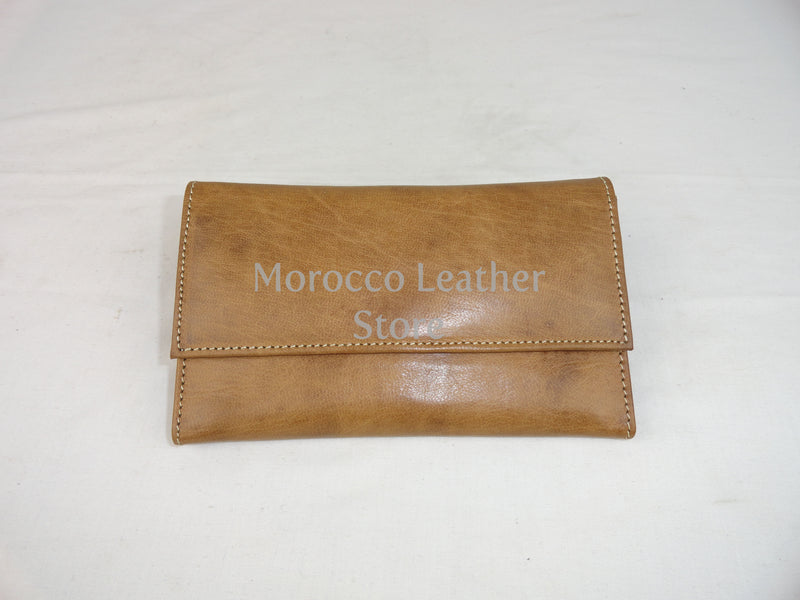 Large natural Leather Wallet - Morocco Leather Store