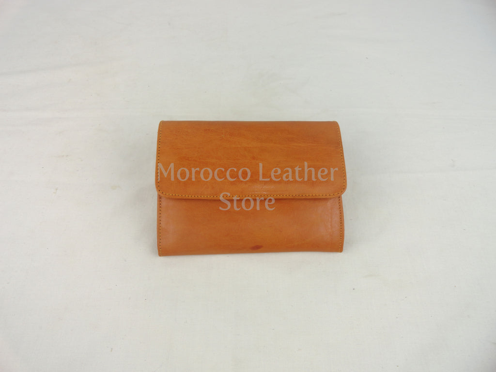 Genuine goat leather wallet - Morocco Leather Store