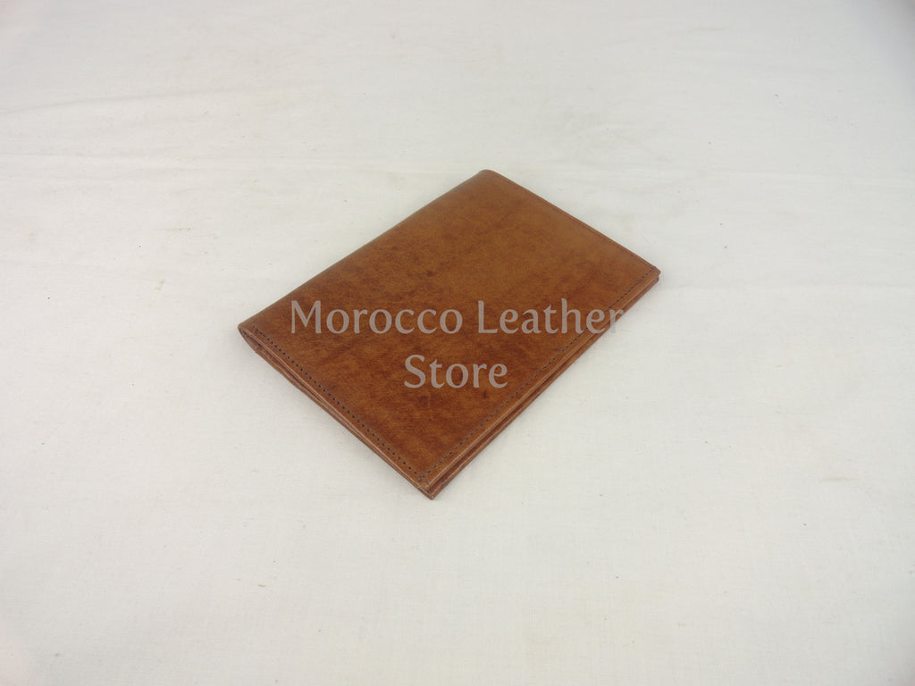 Genuine light brown leather wallet - Morocco Leather Store