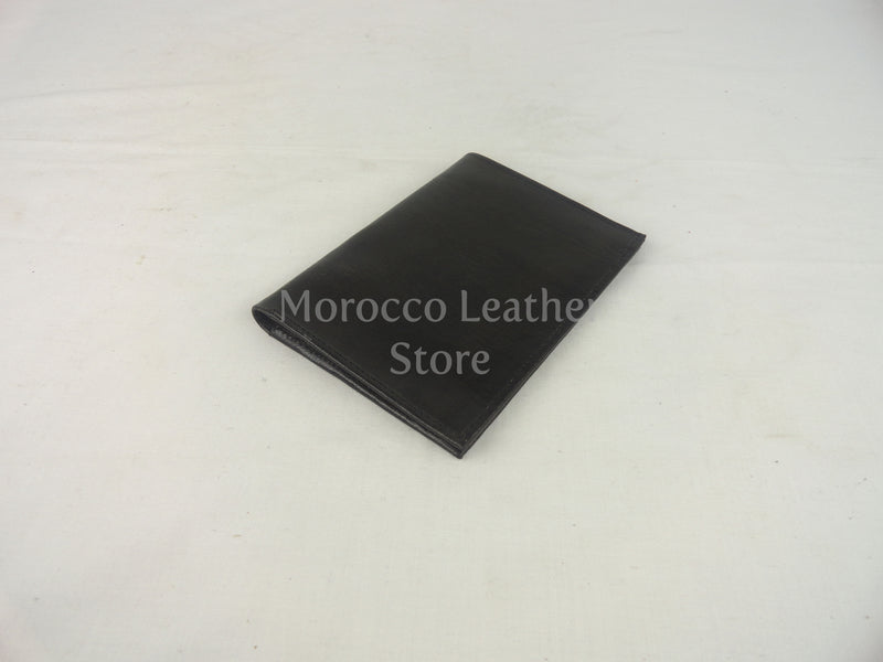 Genuine black leather wallet - Morocco Leather Store