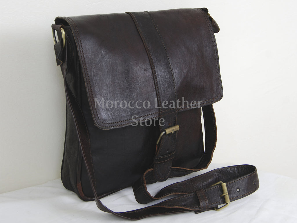 Stylish Crossbody Goat Leather Bag - Morocco Leather Store
