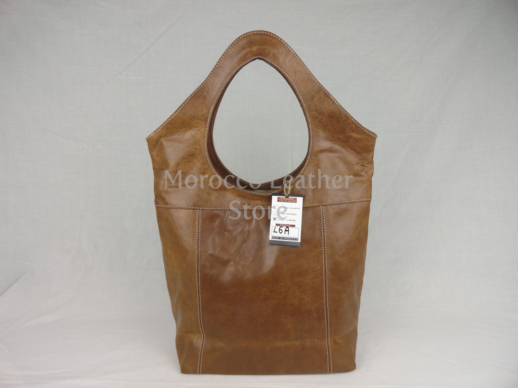 Women Goat Leather Tote Bag - Morocco Leather Store