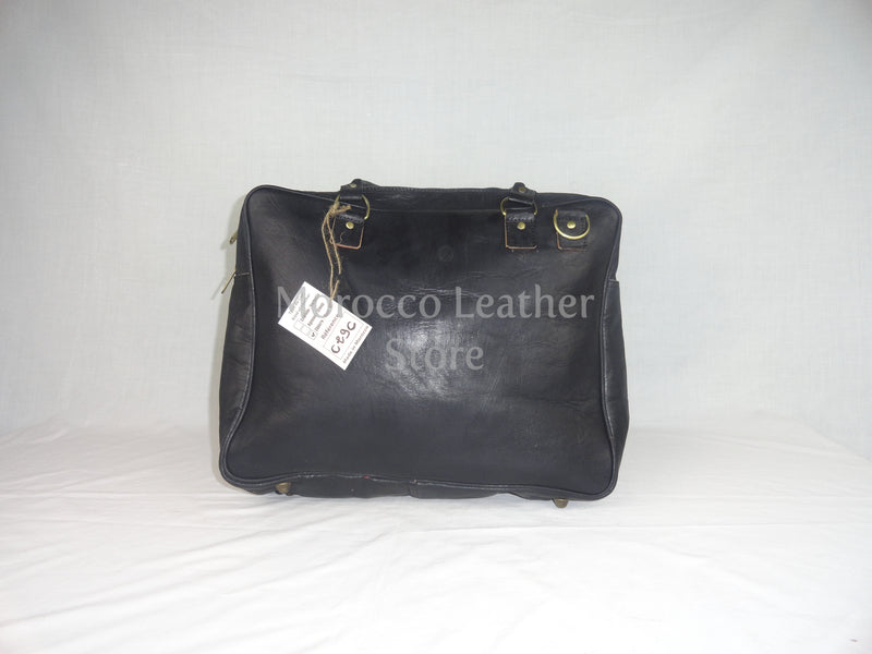 Genuine Black Leather laptop bag - Morocco Leather Store
