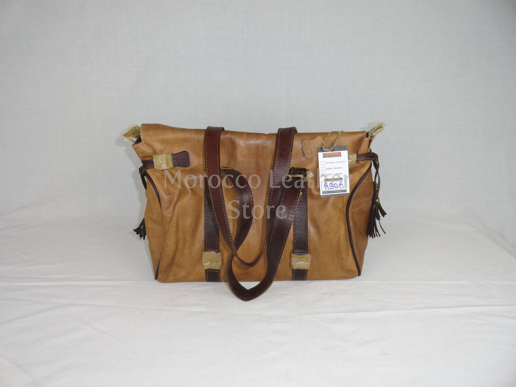 Casual natural goat leather bag - Morocco Leather Store