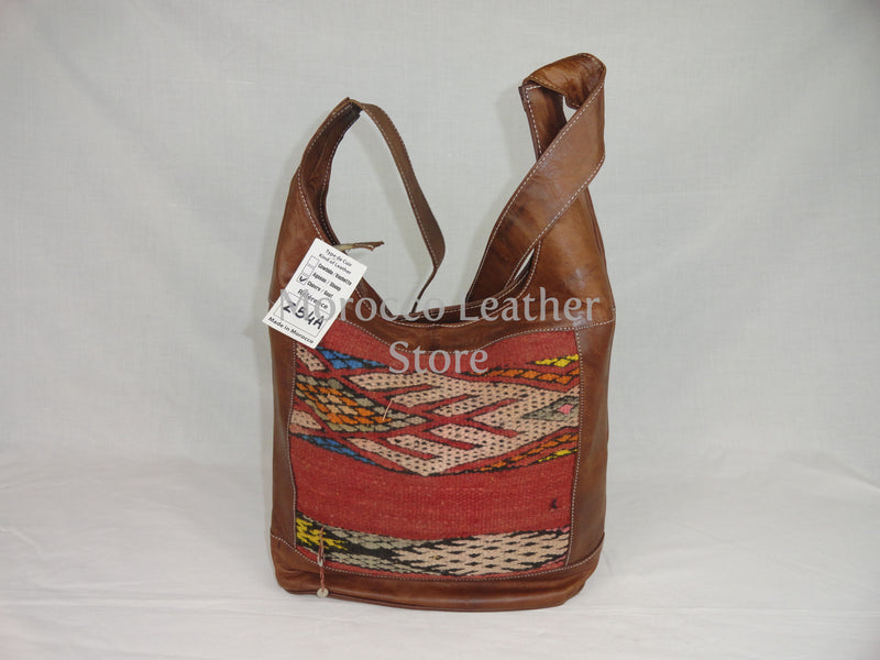 Vintage moroccan natural leather tote bag - Morocco Leather Store