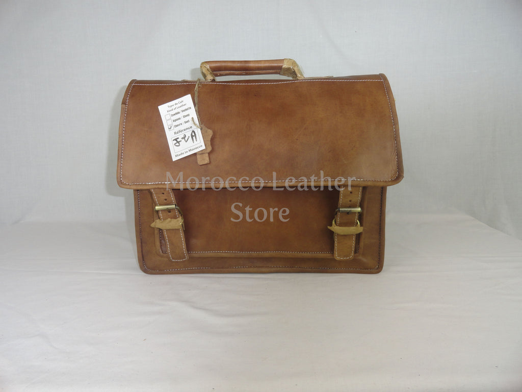 Authentic goat leather Moroccan briefcase - Morocco Leather Store