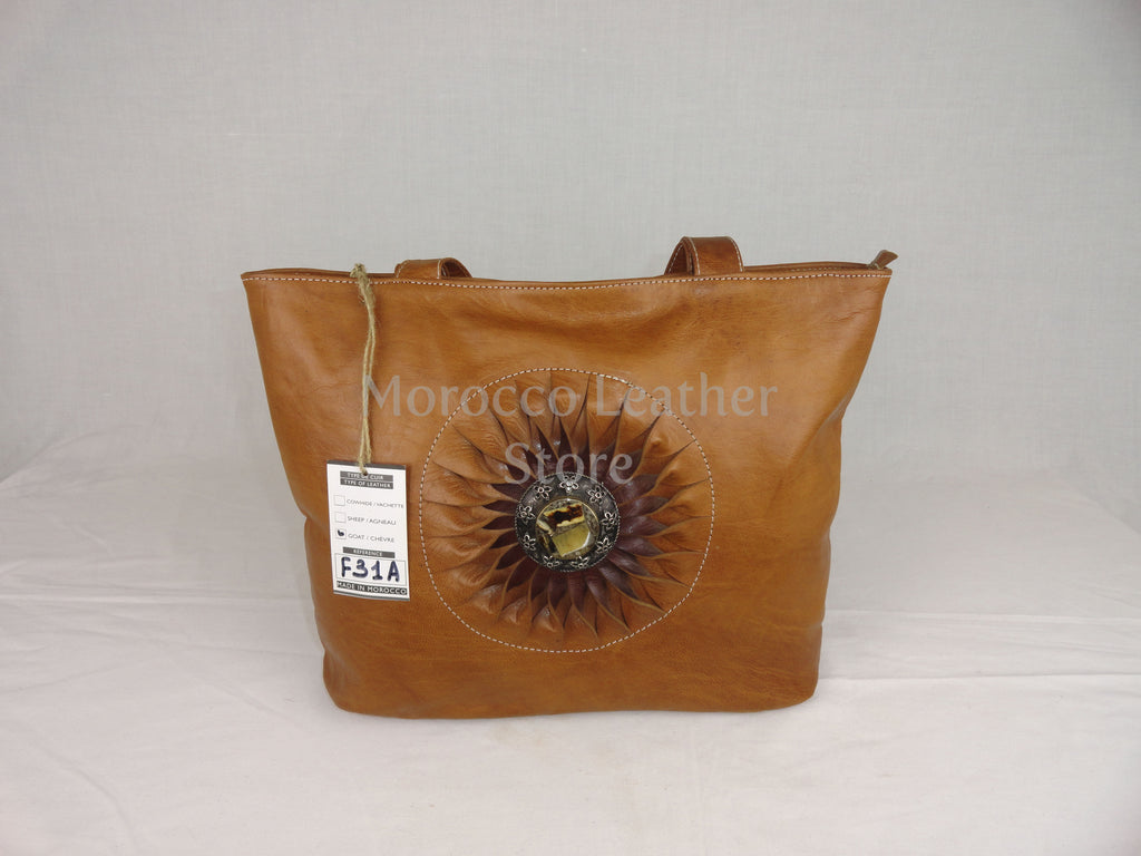 Very Stylish natural genuine women tote bag - Morocco Leather Store