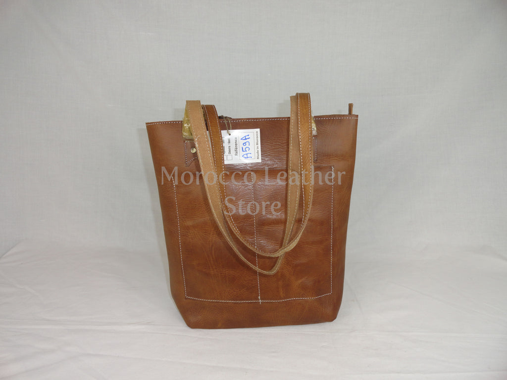 Authentic natural leather Tote bag - Morocco Leather Store