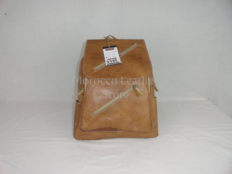 Unisex natural casual genuine leather backpack - Morocco Leather Store