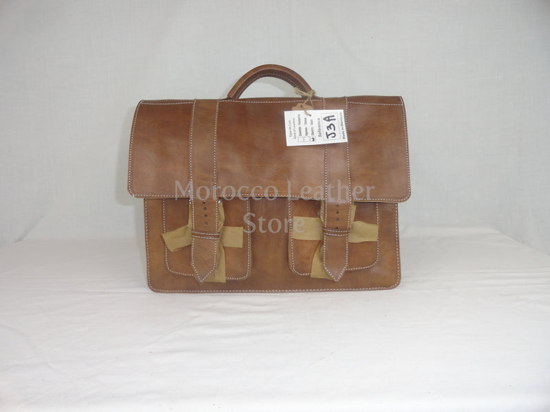 Classy genuine natural leather satchel - Morocco Leather Store