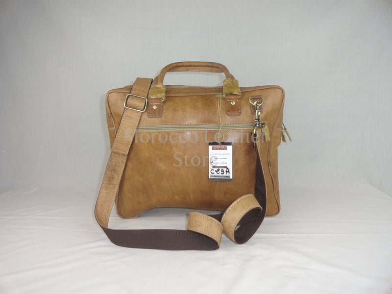 Genuine natural leather laptop bag - Morocco Leather Store