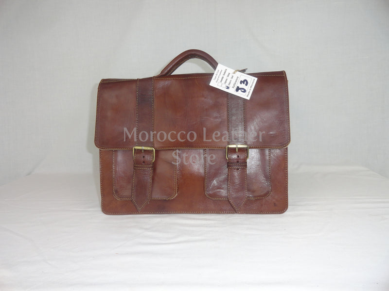 Light brown classy genuine leather satchel - Morocco Leather Store