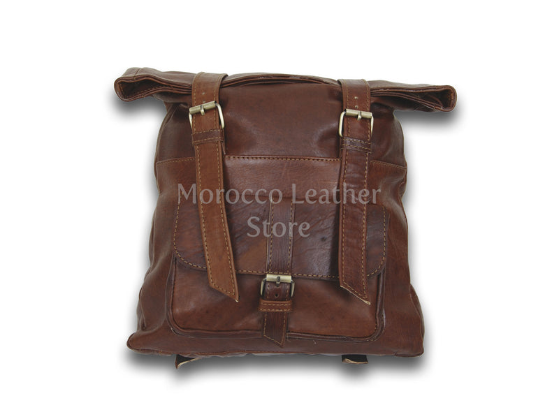 Women's Genuine Leather-Goat Backpack - Morocco Leather Store