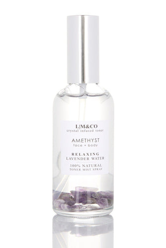 CRYSTAL INFUSED TONER SPRAY - AMETHYST (LAVENDER)