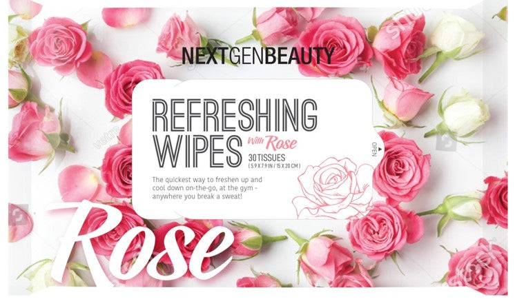 REFRESHING WET WIPES- ROSE