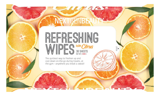REFRESHING WET WIPES- CITRUS