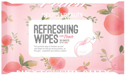 REFRESHING WET WIPES- PEACH