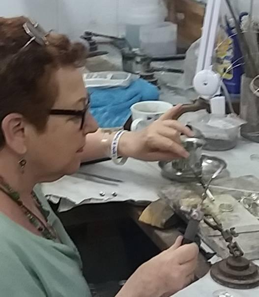 Working at the spinner rings studio