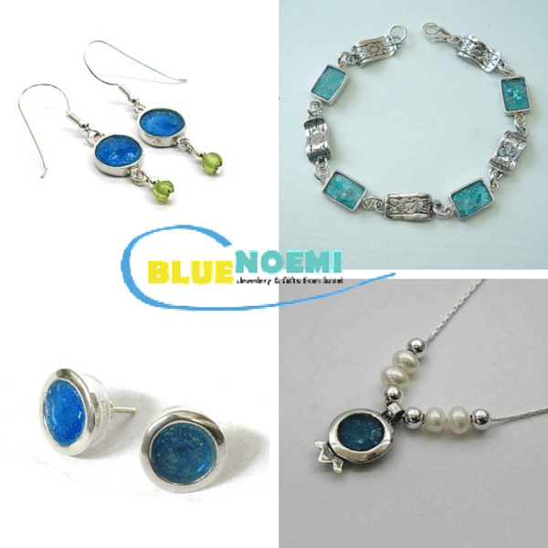 Roman Glass Necklaces and Earrings