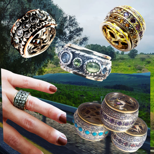 Bluenoemi israeli spinner rings meditation rings