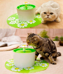 Automatic Cat Water Fountain with Mat