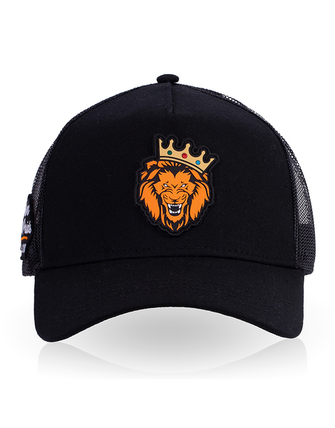Trucker Cap Single Lion (Black)