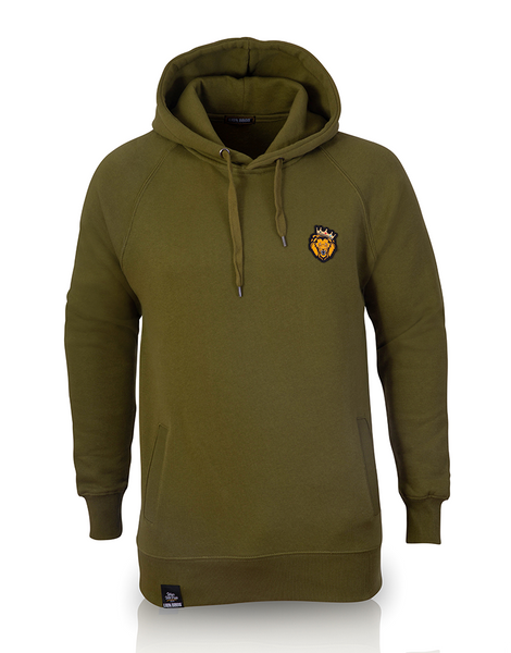 Single Lion Hoodie (Olive)