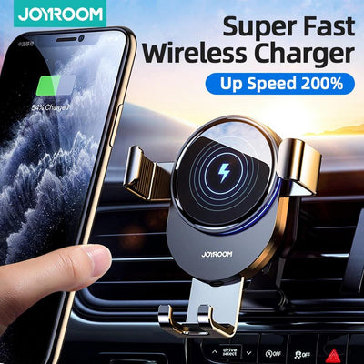 15W Qi Wireless Fast Charger Intelligent Car Mount