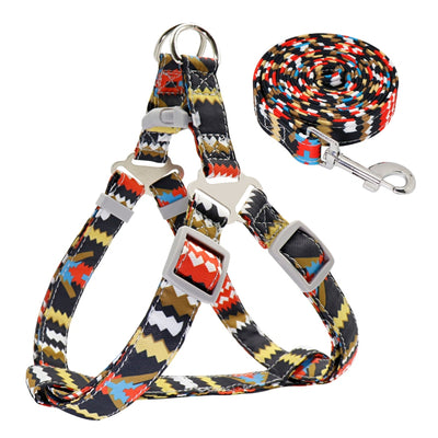 Adjustable Nylon  Harness + Leash