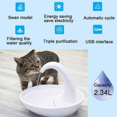 Cat Drinking Water Fountain Automatic Circulating Water Dispenser
