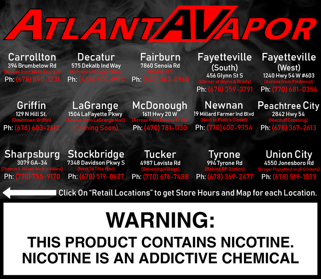 Atlanta Vapor Online and Retail Stores
