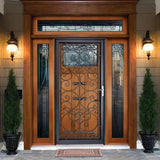 Grisham - Naples 36 in. X 80 in. Black Full View Wrought Iron Security Storm Door with Reversible Hinging - 37021 - From ATL Liquidators