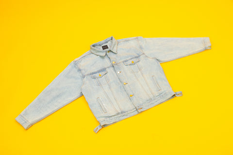 "Light Blue ""PeacedOut"" Denim Jacket"