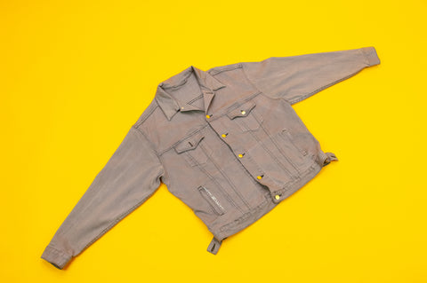 "Gray ""PeacedOut"" Denim Jacket"