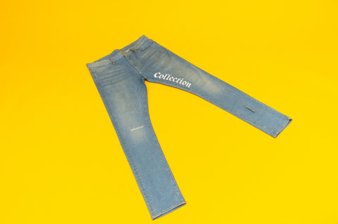 "The ""Rich Print"" Light Blue Denim Jeans"
